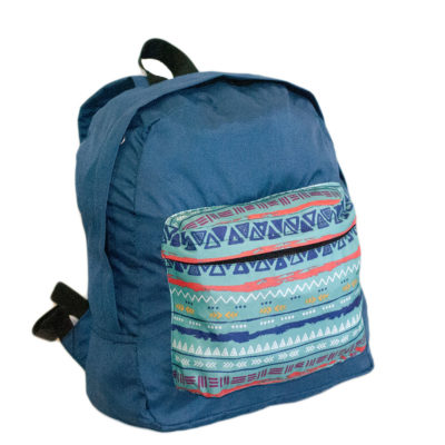 Рюкзак темно синий с рисунком